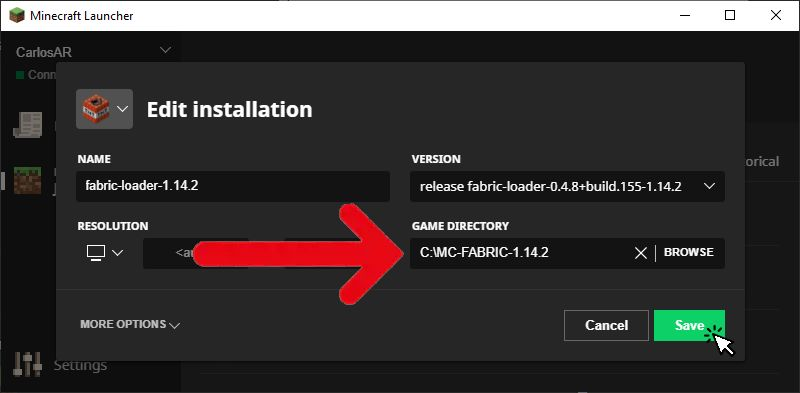 tutorial:install_with_minecraft_launcher [Fabric Wiki]